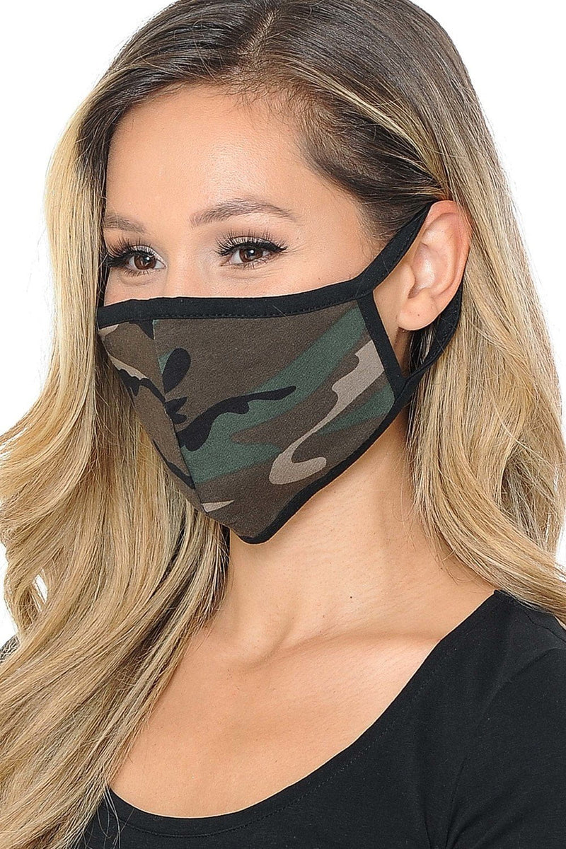 Fiumara Apparel Unisex Camouflage Face Mask -2 Pack