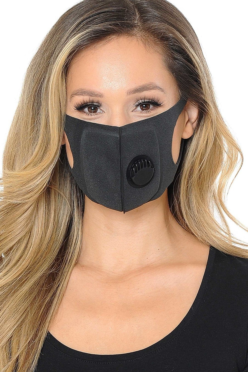 Fiumara Apparel Comfort Sponge Face Mask with Air Valve - 5 Pack