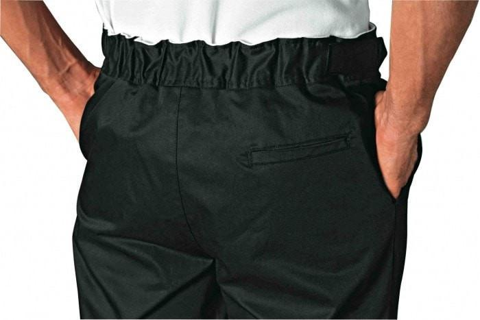 Denver black Chef Pants by Bragard lac Waistband