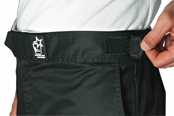 Denver black Chef Pants by Bragard Black Velcro Closure