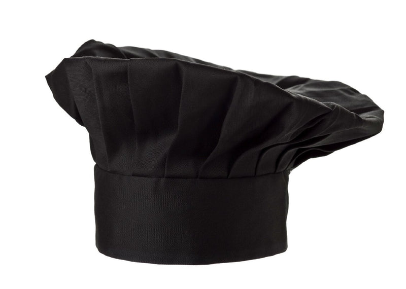 Fiumara Apparel Poplin Chef Hat Black Profile Black