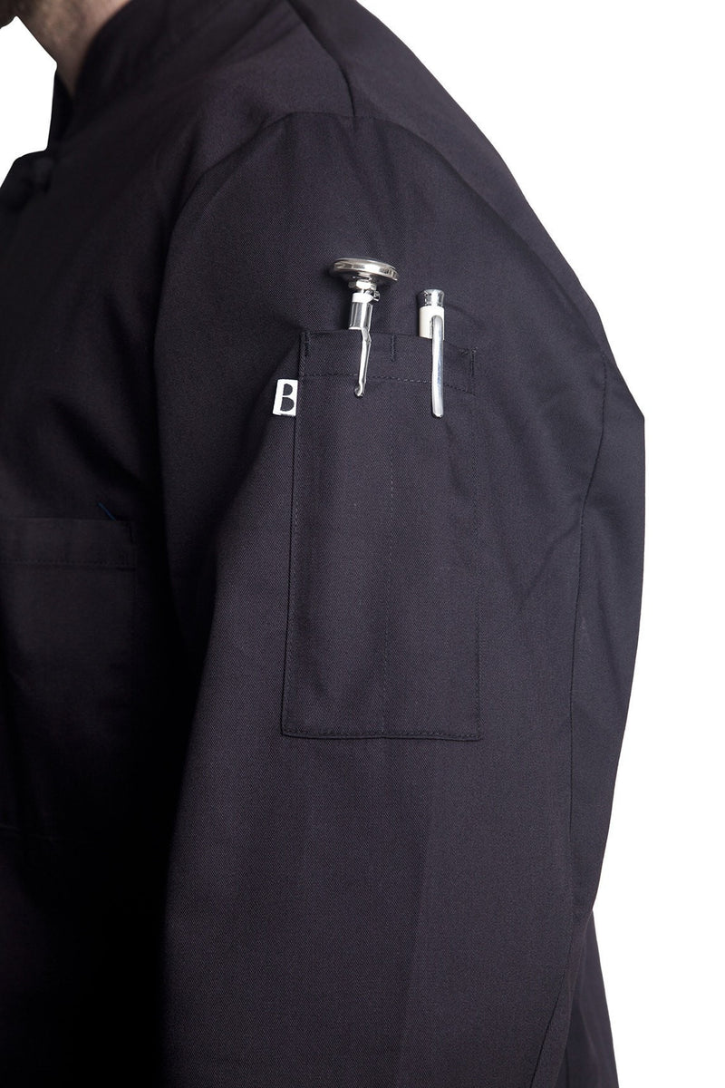 Bragard Thomas Chef Jacket Black Arm Pocket