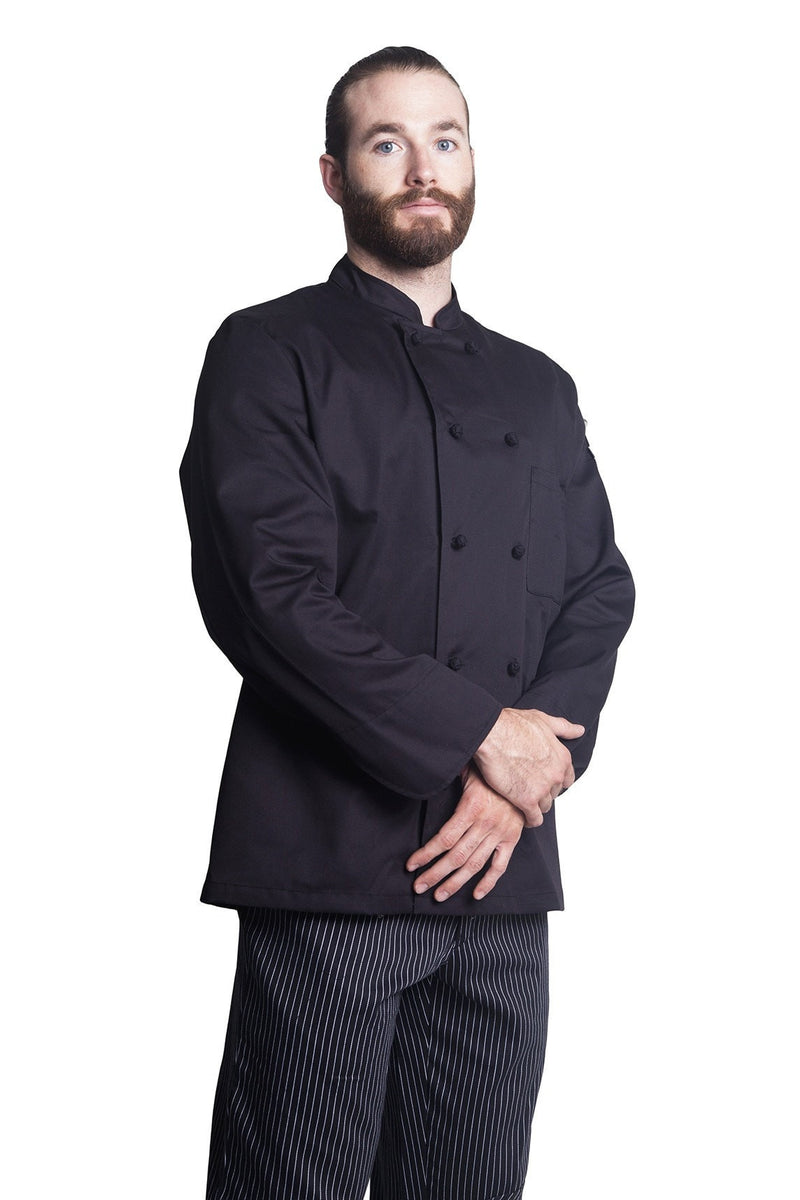 Bragard Thomas Chef Jacket Black Front Side