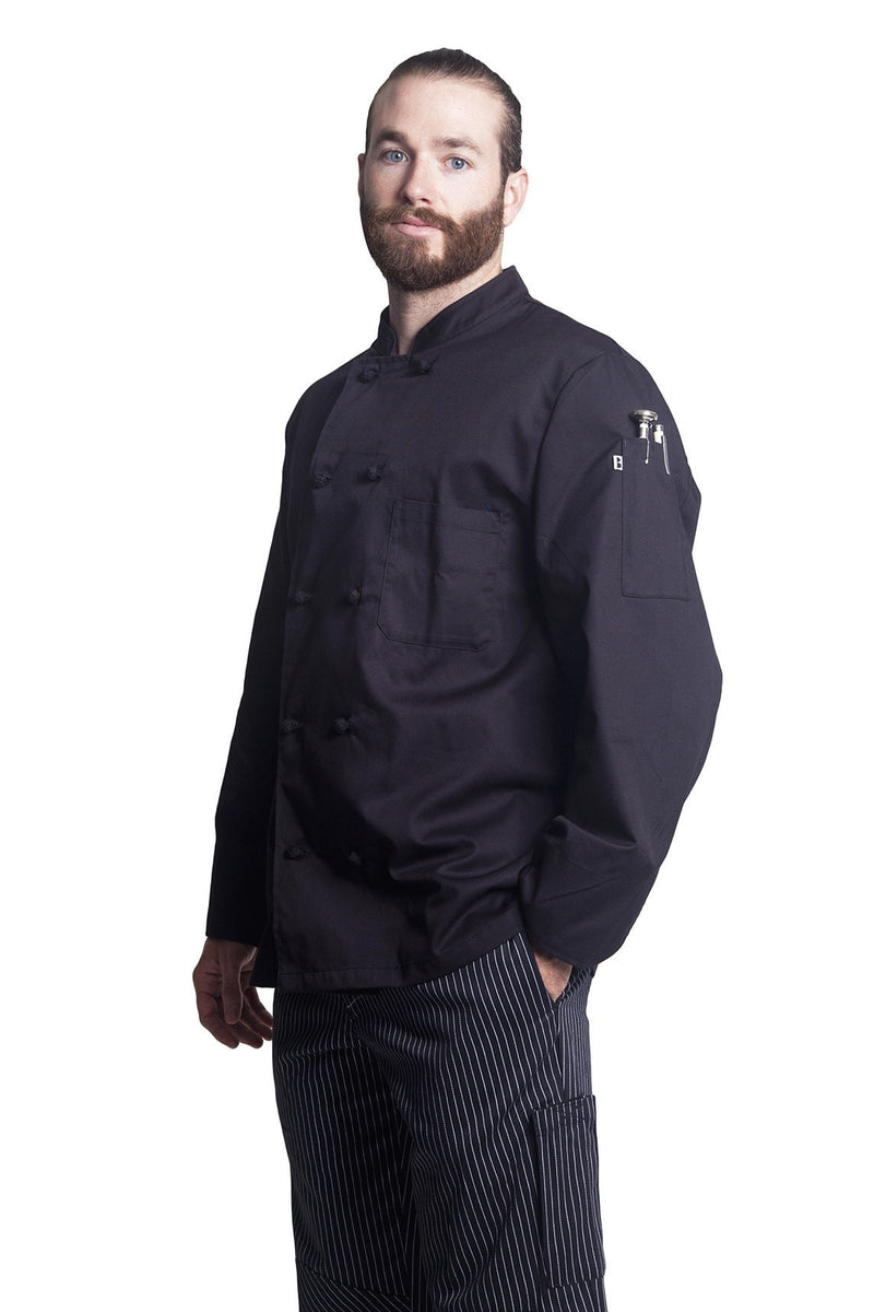 Bragard Thomas Chef Jacket Black Side