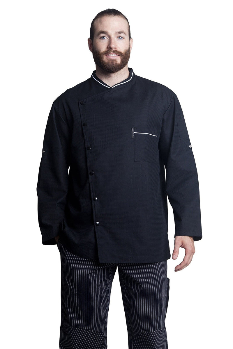 Bragard Chicago Chef Jacket w/Honeycomb Weave Front2
