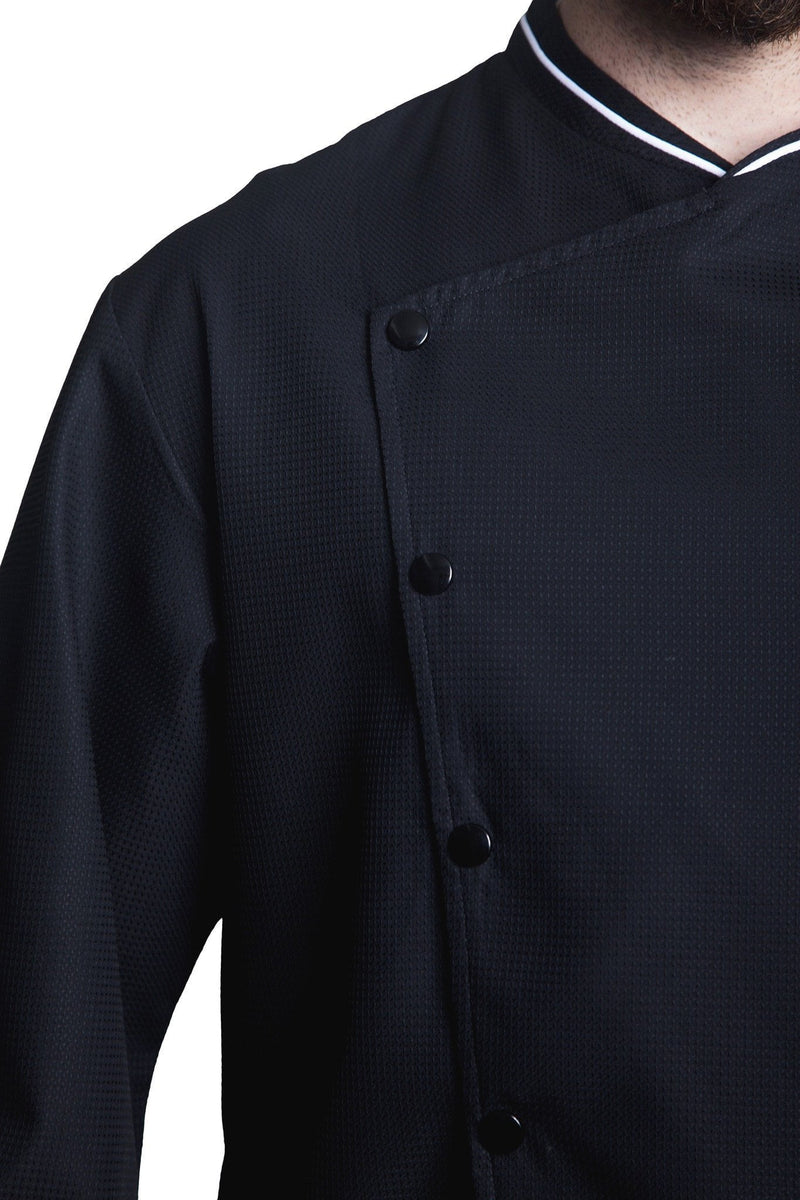 Bragard Chicago Chef Jacket w/Honeycomb Weave Front Buttons