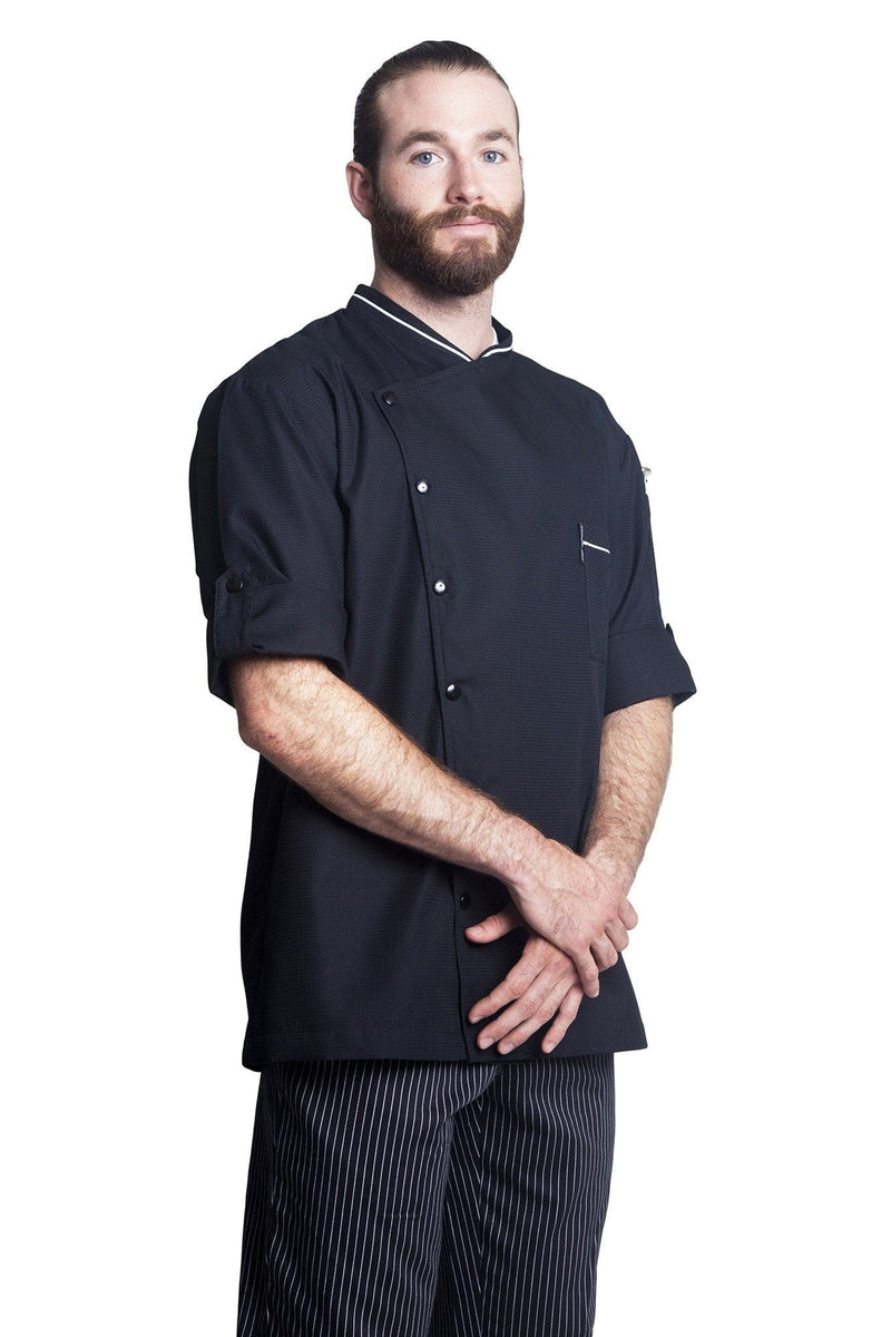 Bragard Chicago Chef Jacket w/Honeycomb Weave Short Sleeve