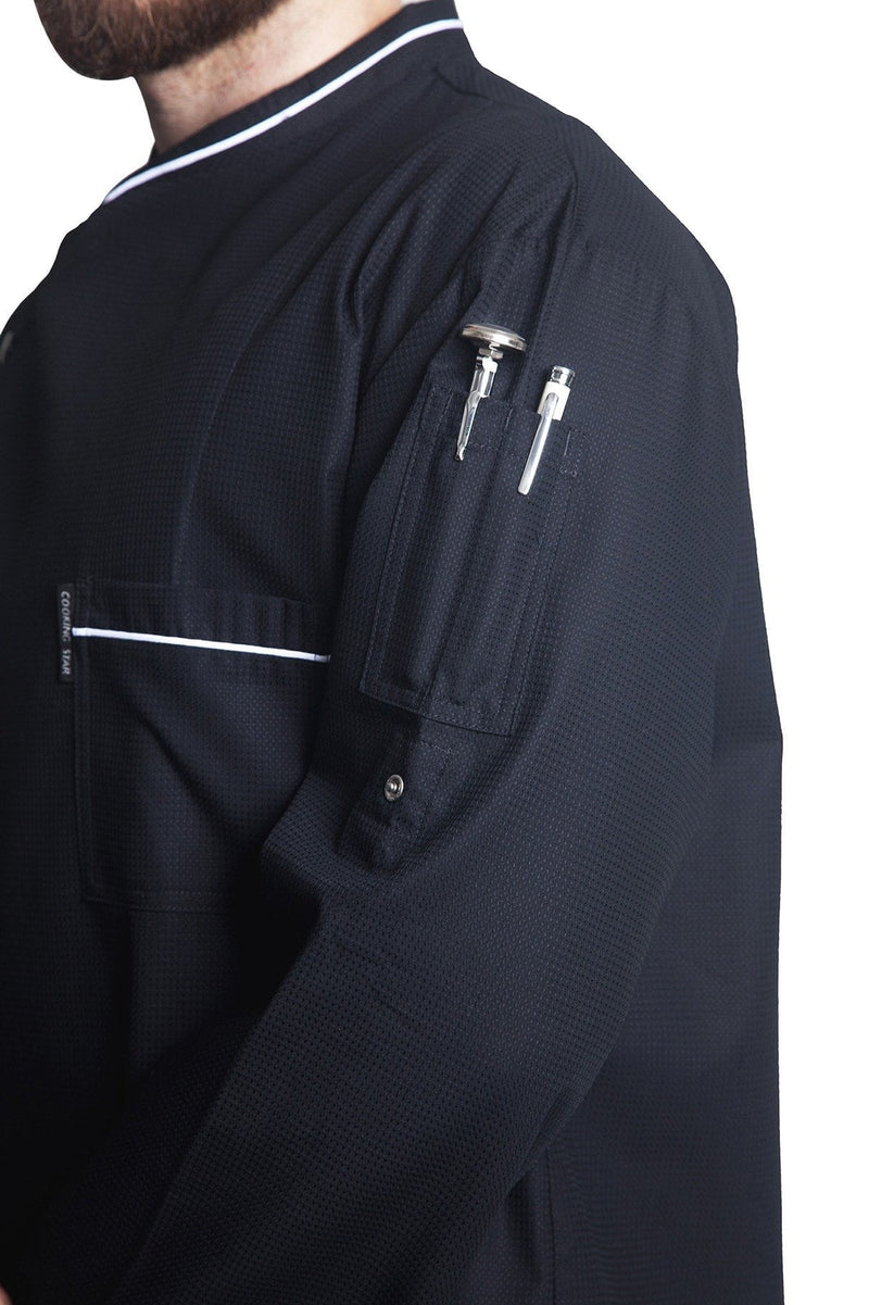 Bragard Chicago Chef Jacket w/Honeycomb Weave Sleeve Pocket