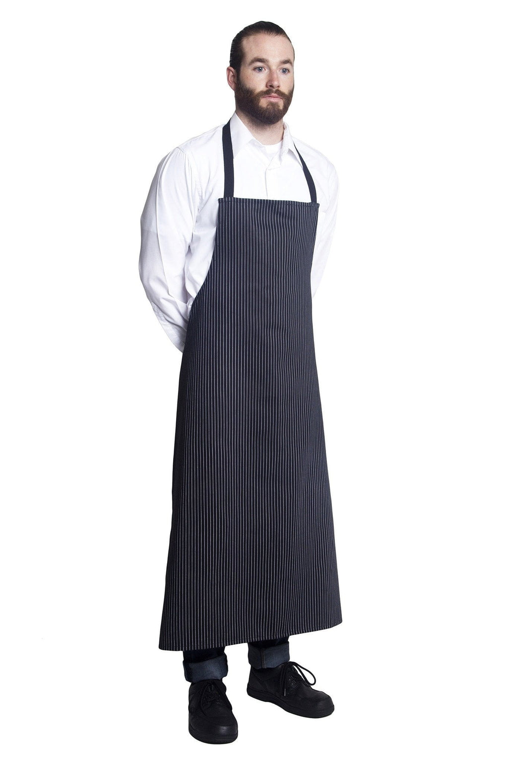 Bragard Travel Bib Chef Apron No Pocket Side