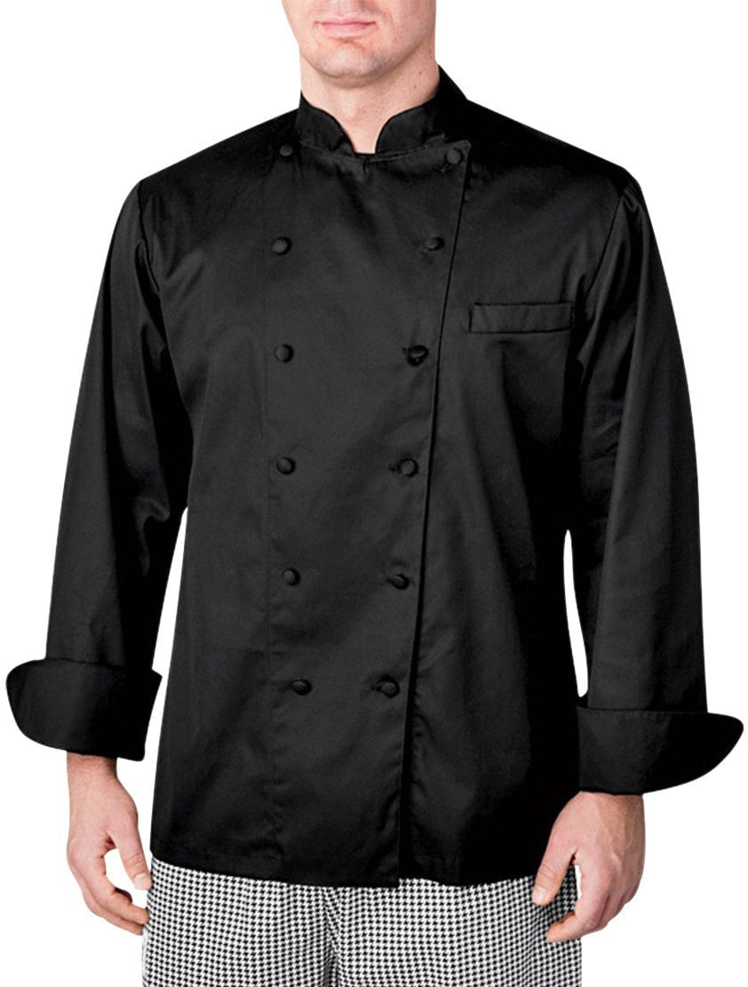 Veste de chef Executive LS par Chefwear 4100 Black Front