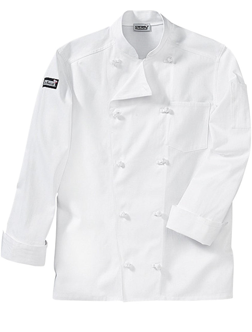 Five Star Traditional Chef Coat by Chefwear White Long Sleeve Profile