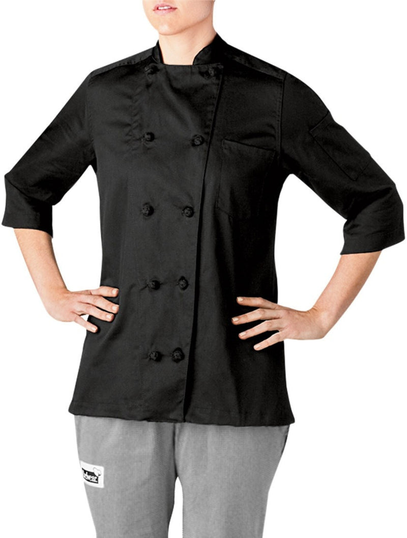 Five Star Light Weight Chef Coat by Chefwear 5025 Black