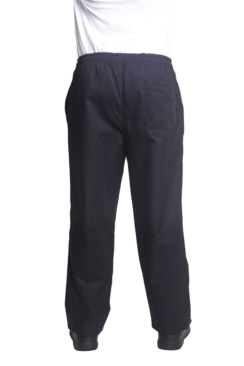 Bragard Nick Black Chef Pants Back