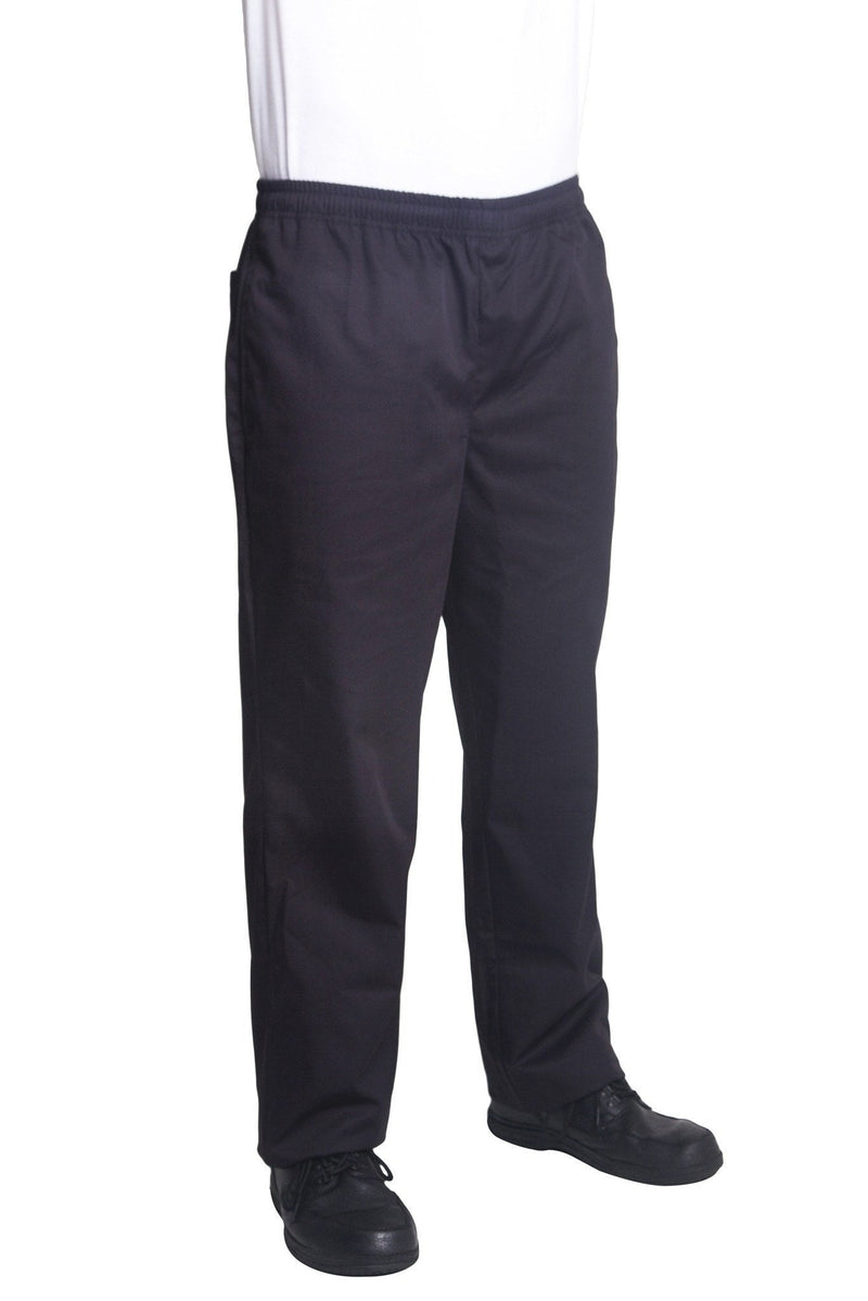 Bragard Nick Black Chef Pants Side