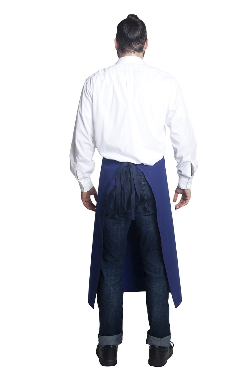 Bragard Travail Bib Chef Apron In Blue Back