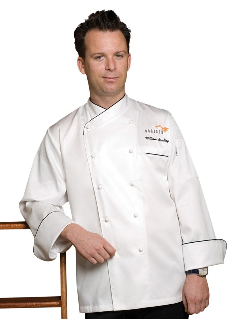 Monte Carlo Chef Coat White Front Profile