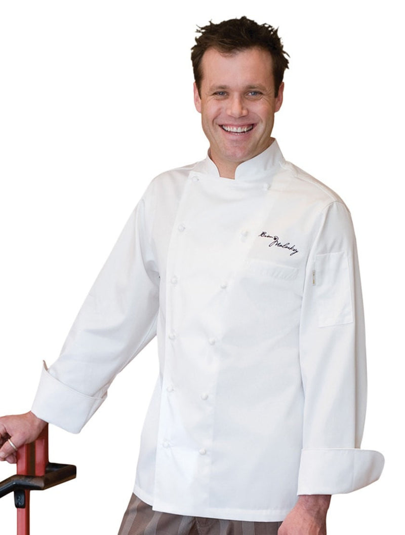 Madrid Chef Coat par Chef Works White front