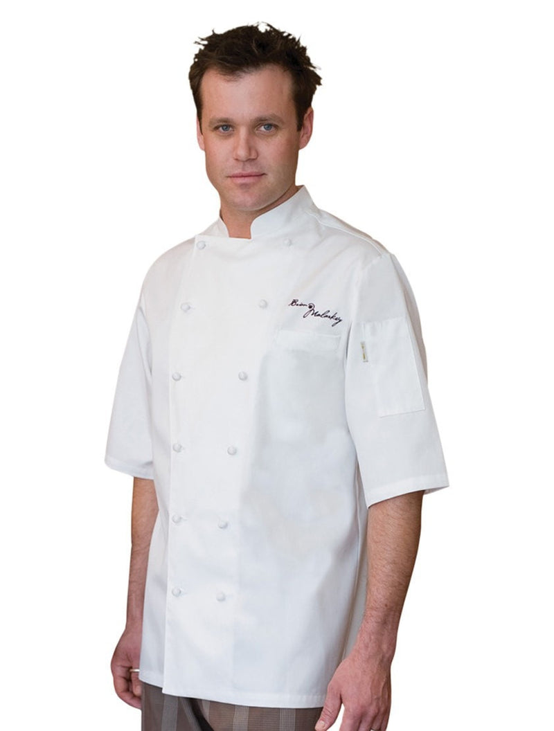 Capri Egyptian Cotton Coat by Chef Works White Front Profile