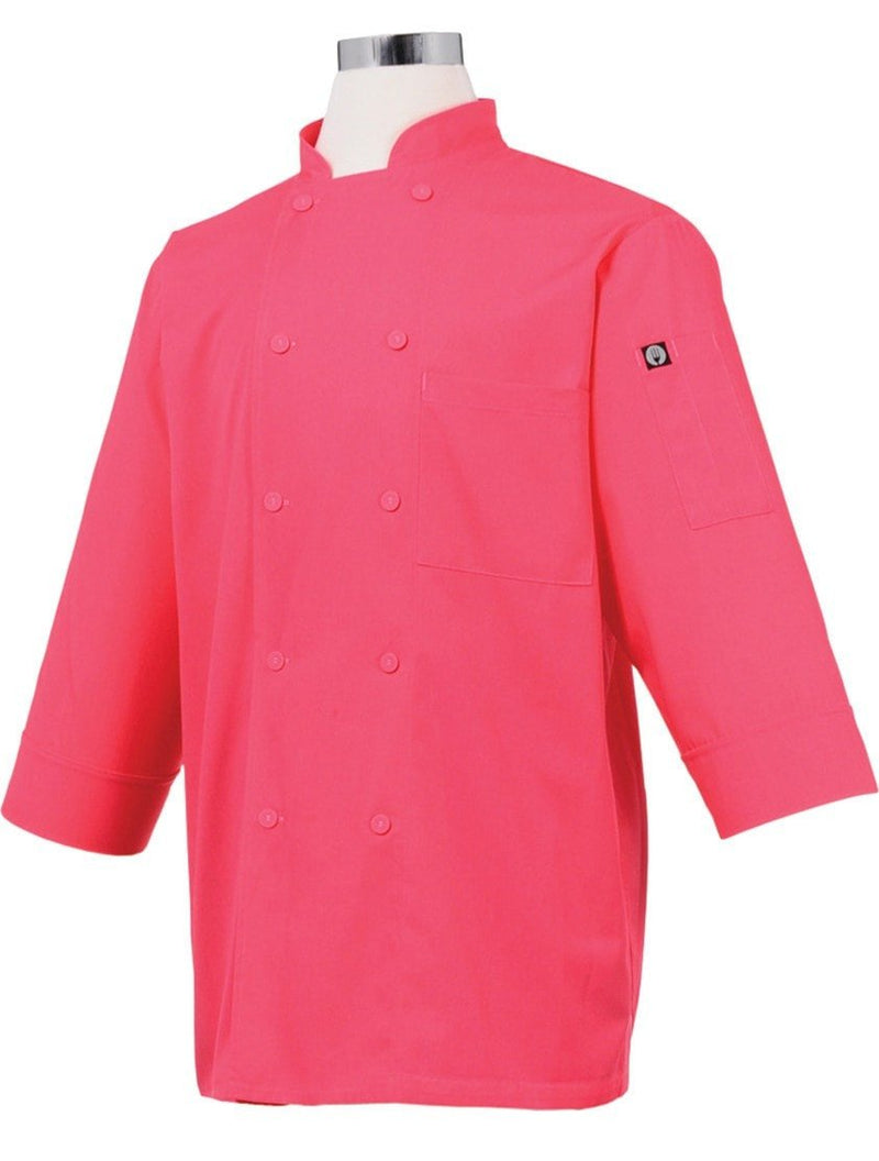 Basic 3/4 Sleeve Chef Coat Berry