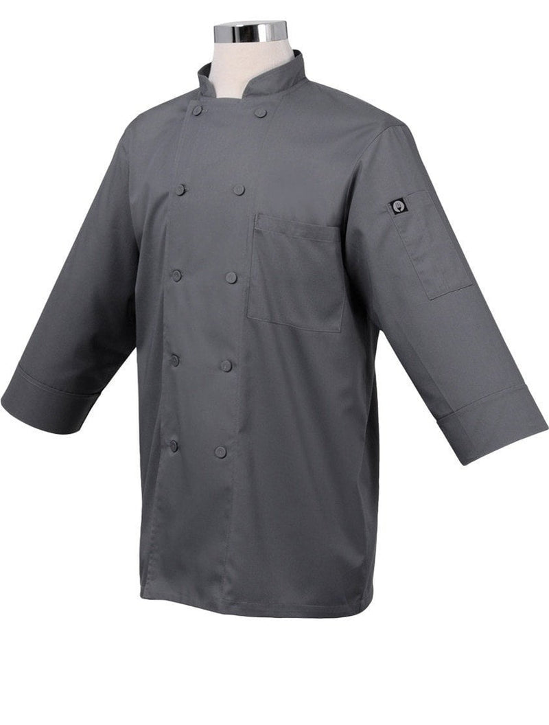 Basic 3/4 Sleeve Chef Coat Grey