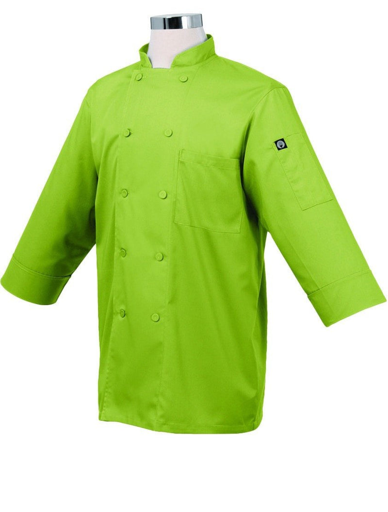 Basic 3/4 Sleeve Chef Coat Lime