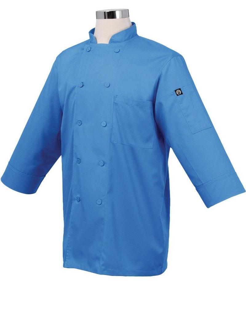 Basic 3/4 Sleeve Chef Coat Blue