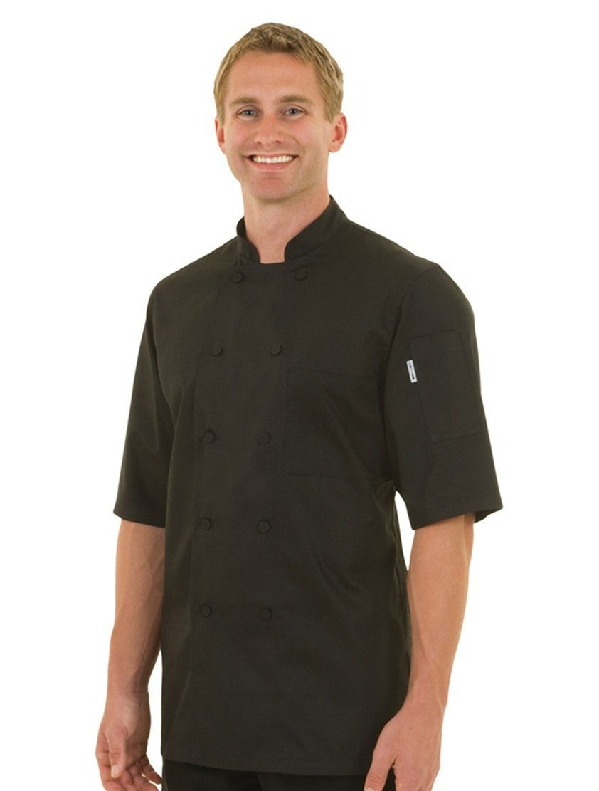 Montreal Cool Vent Chef Coat Black Front Profil