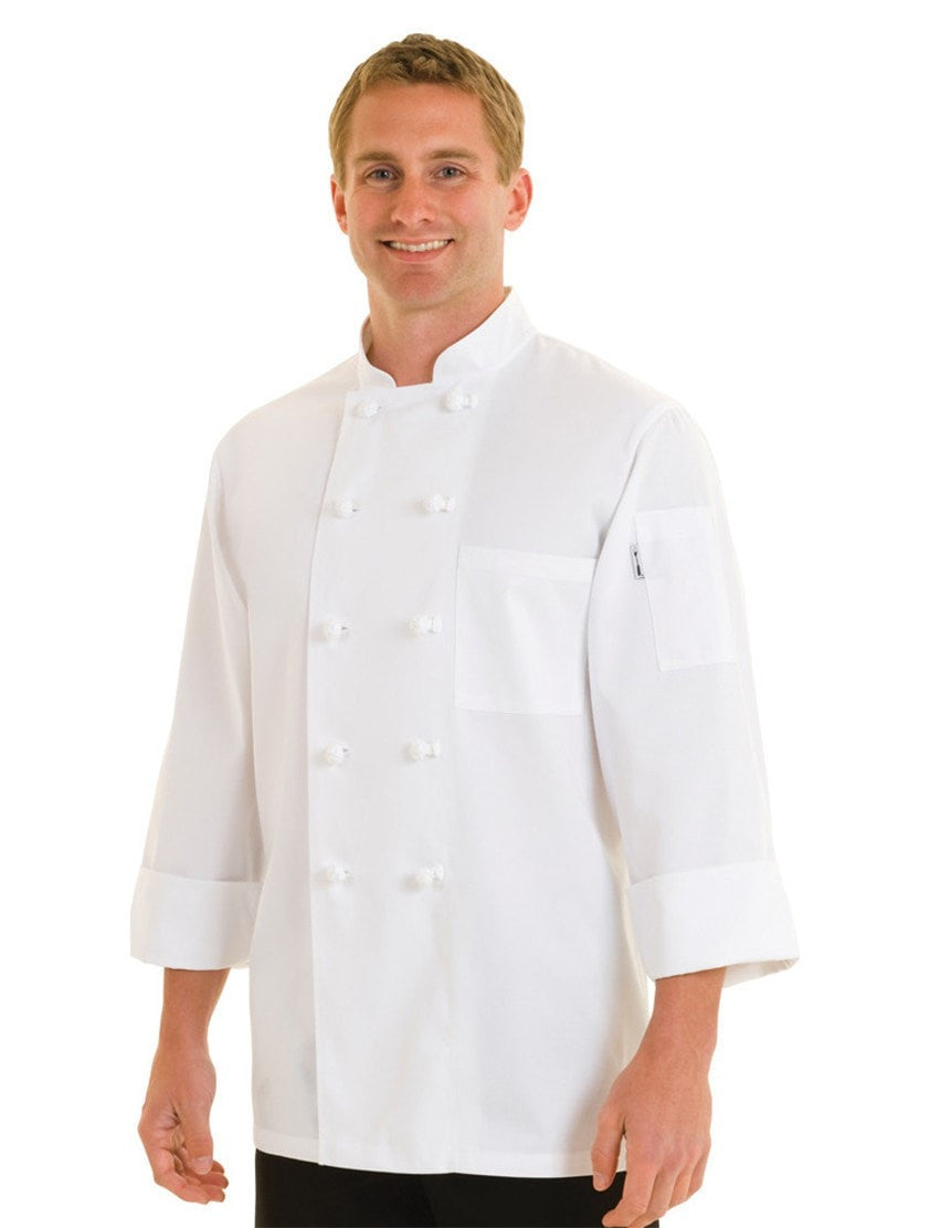 Manteau de cuisine Le Mans Basic de Chef Works White Front Profile