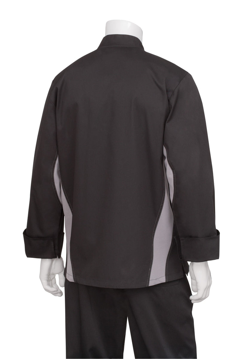 Lyss V-Series Chef Coat by Chef Works Black Back