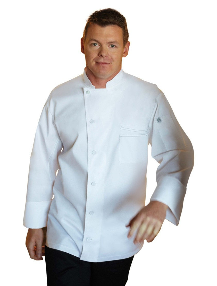 Lyss V- Series Chef Coat by Chef Works White Front Profile