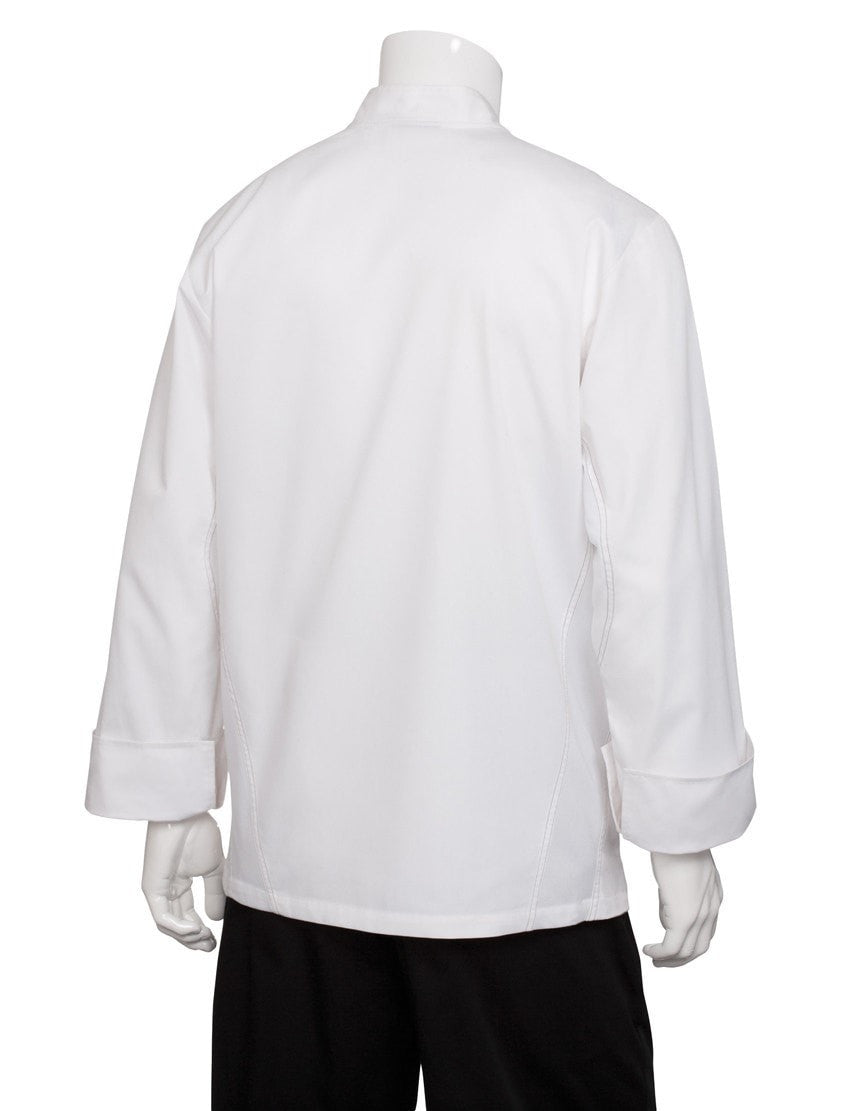 Lyss V-Series Chef Coat by Chef Works White Back