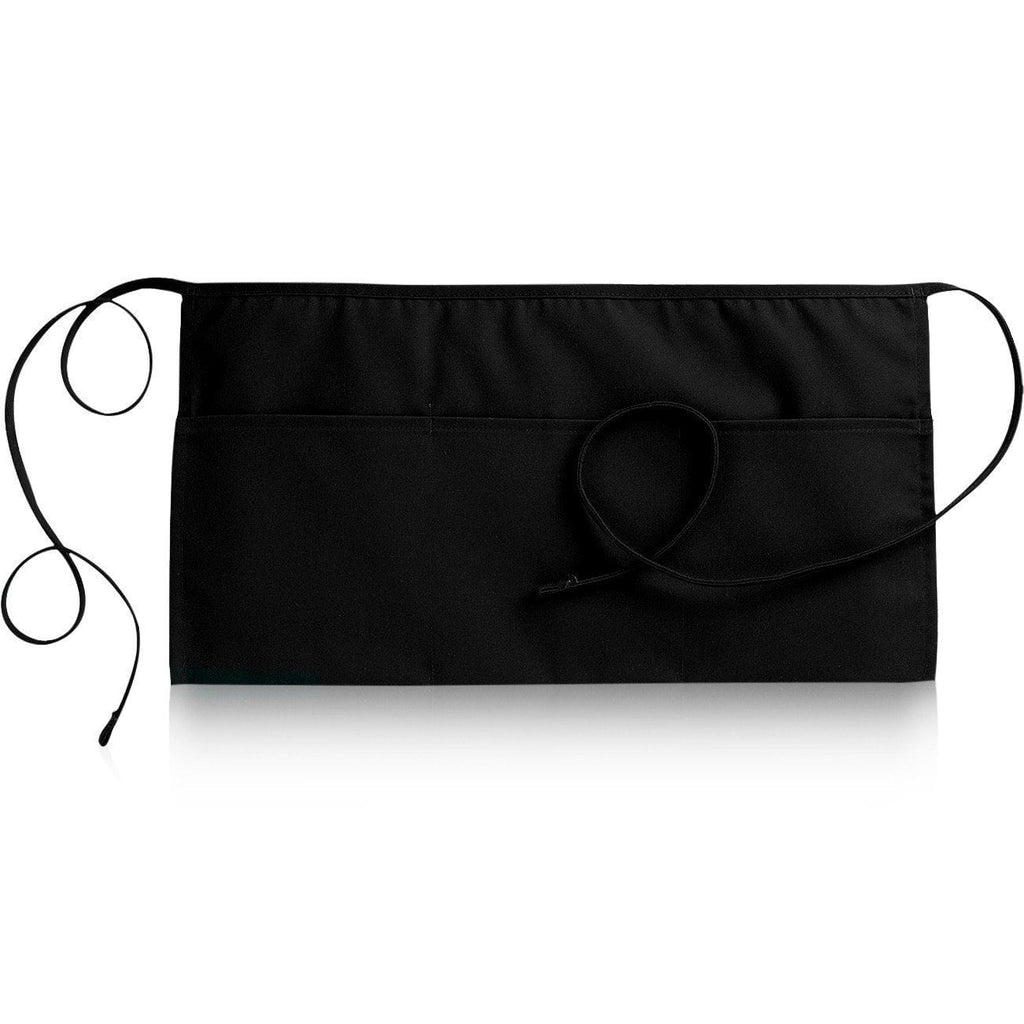 "3 Pocket Waist Apron 12""L x 23""W Black Open"