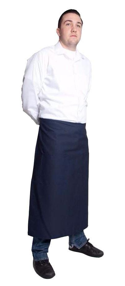 "Fiumara Apparel Full Bistro w/2 Pockets 32""L x 28""W Navy Side"
