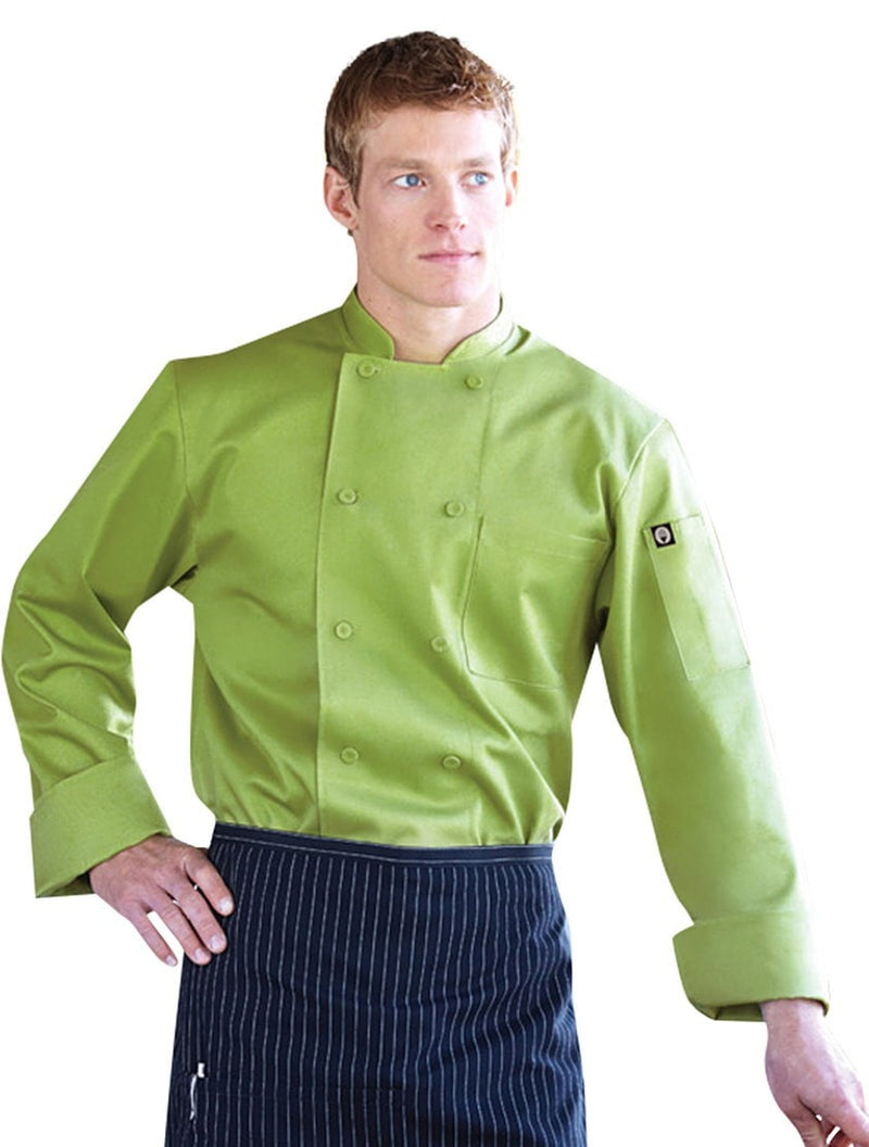 Chef Works Genova Lime Basic Chef Coat Front Profile