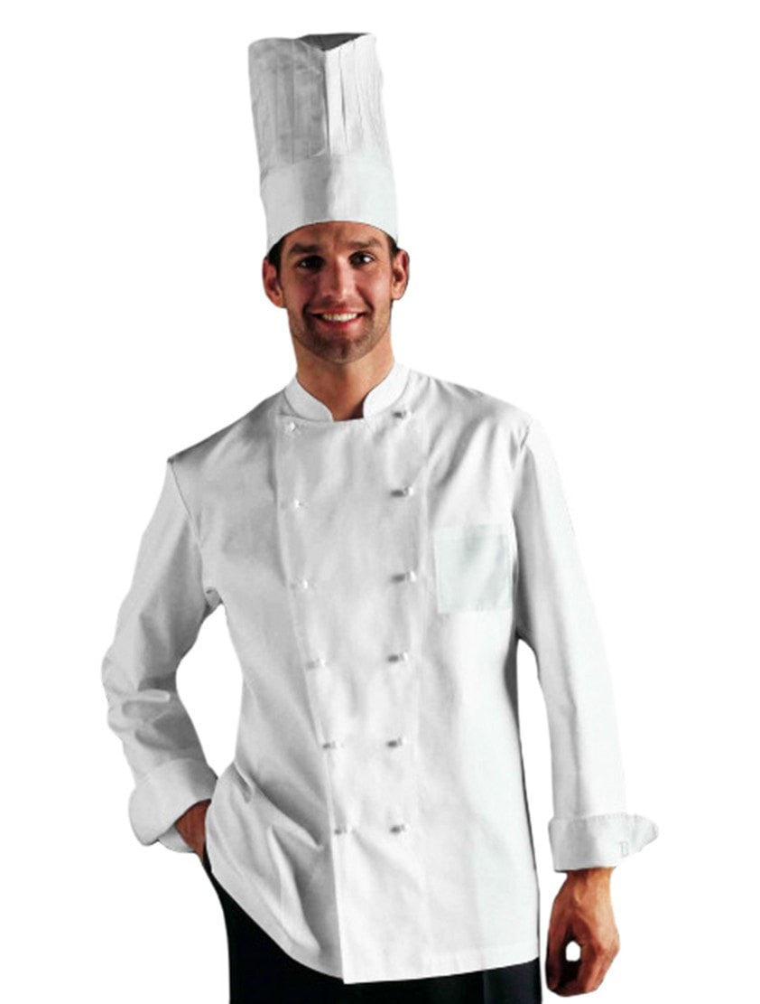 Grand Chef w/Chest & Pen Pocket by Bragard White Front Profile