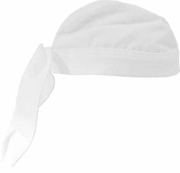 Professional Chef Head Wrap White Profile