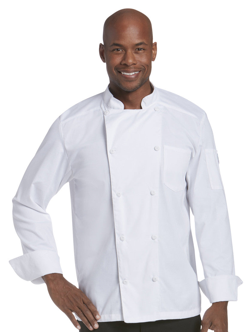 Chefwear Mesh Back Chef Jacket White CW5663-Front