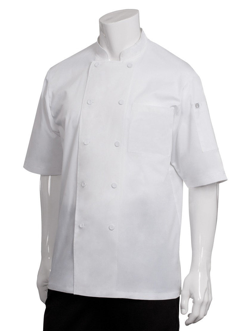 chef works montreal cool vent basic chef coat montreal cool vent chef coat by chef works white front