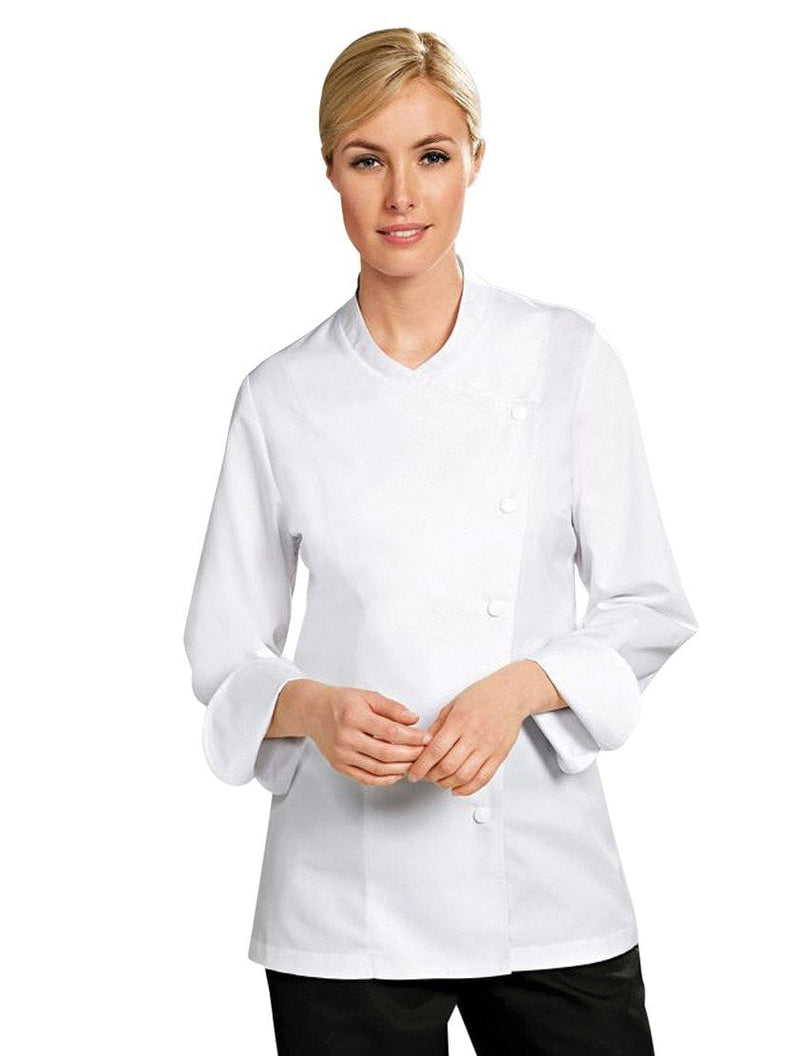 Julia Women Chef Jacket - White - Front
