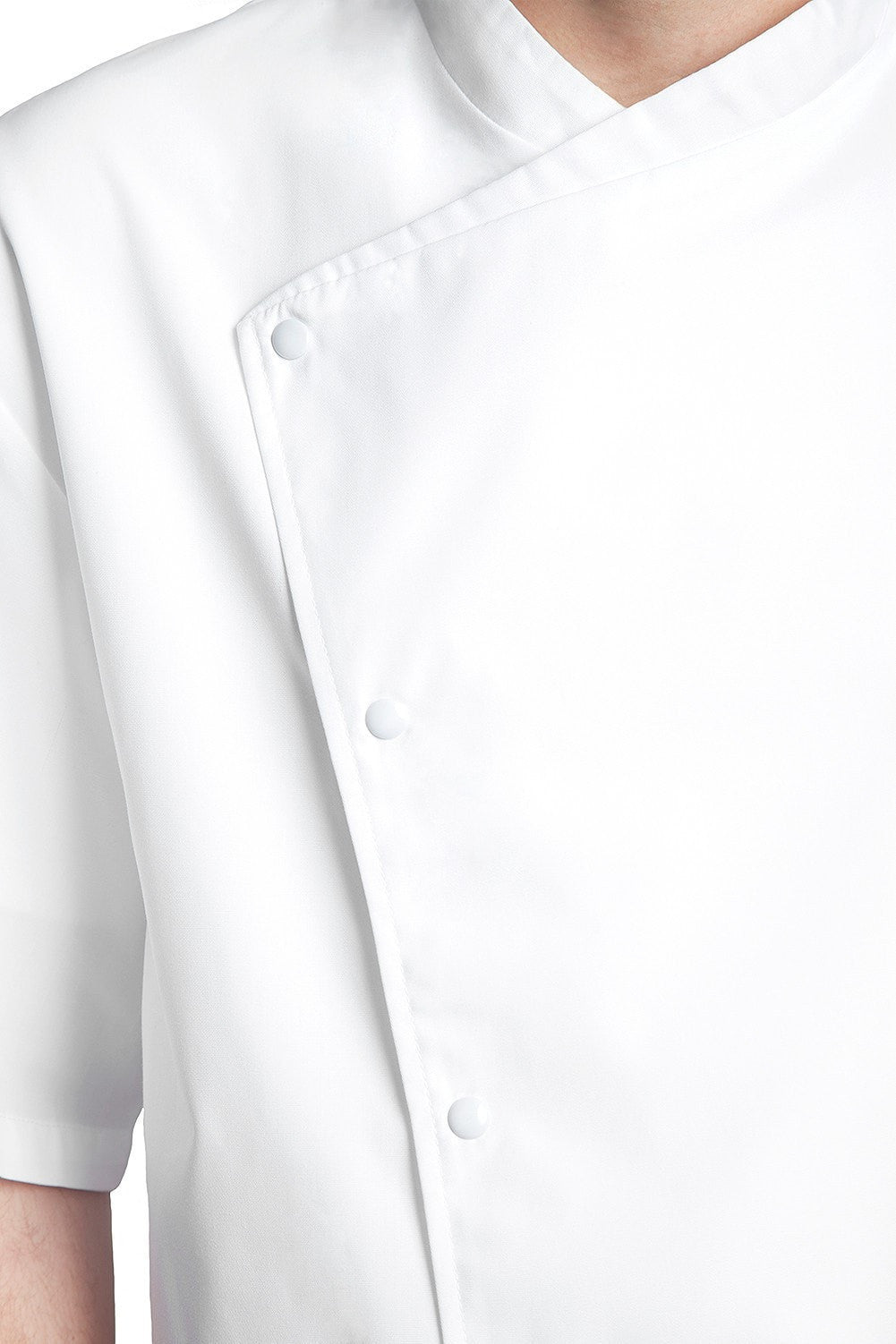 Julius Short Sleeve Chef Jacket by Bragard Front Close Up