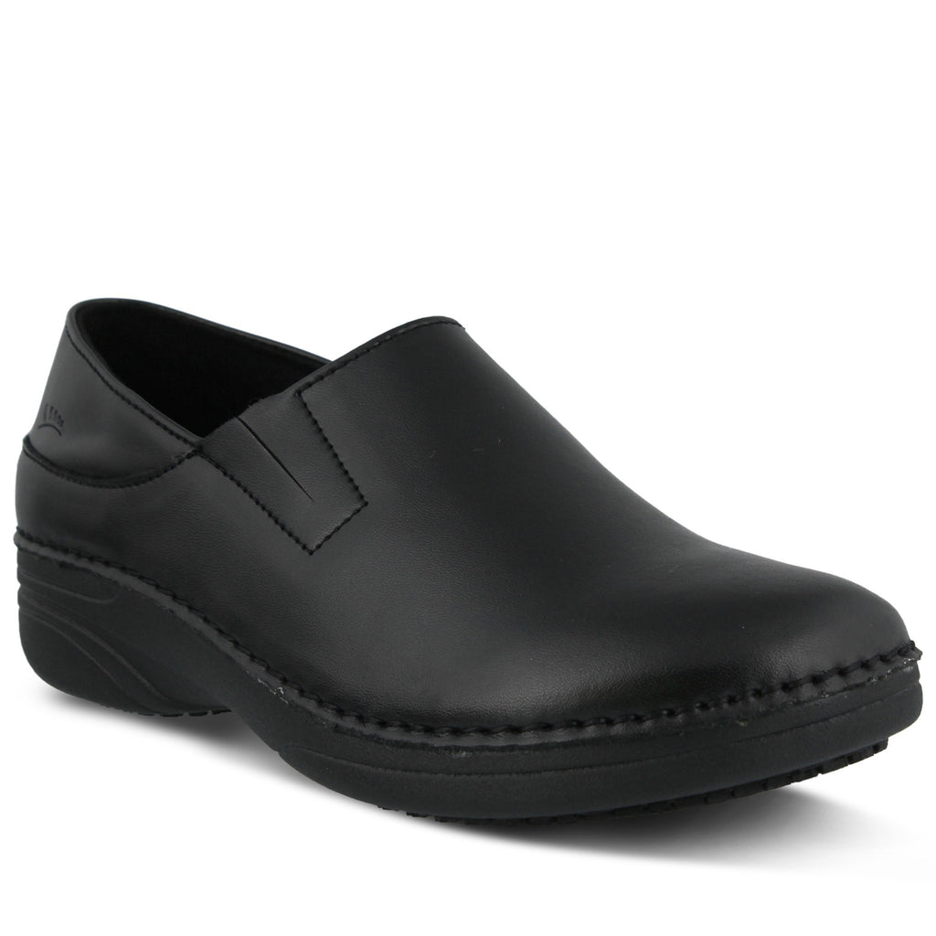 Spring Footwear Manila Chef Clog Black Main