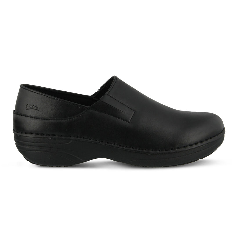 Spring Footwear Manila Chef Clog Black Side