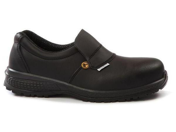 Giasco Medina S2 Closed Back Anti-Slip Leather Chef Shoe - left