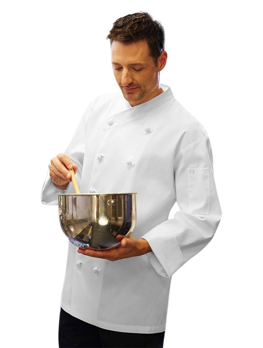 Chef Works Nice Basic Chef Manteau Blanc Profil