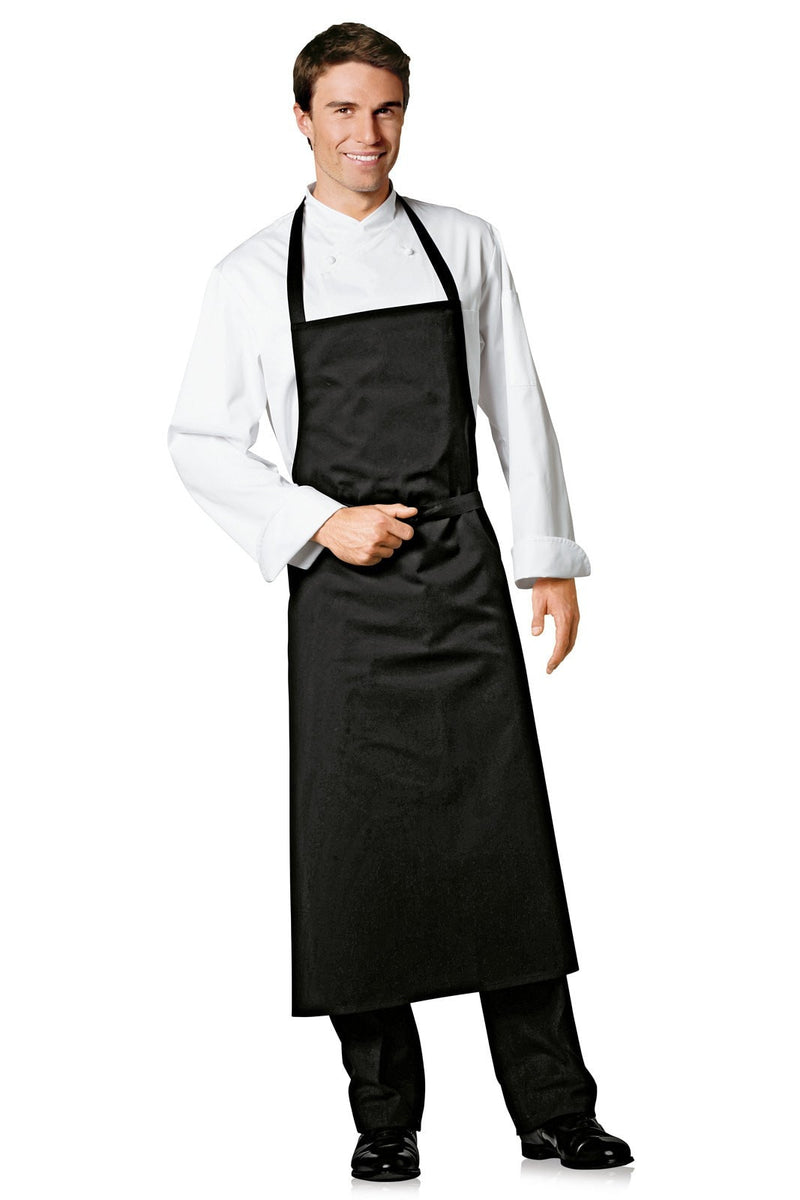 Bragard Travel Bib Apron Black -Front