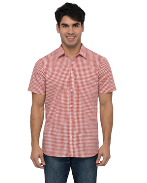Chef Works Chemise à Coupe Moderne Homme Gingham - Rouille