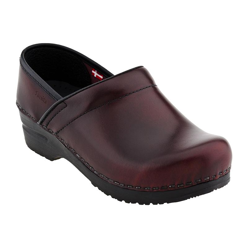 Sanita Men's Professional Cabrio Slip-Resistant Chef Clog - bordeaux
