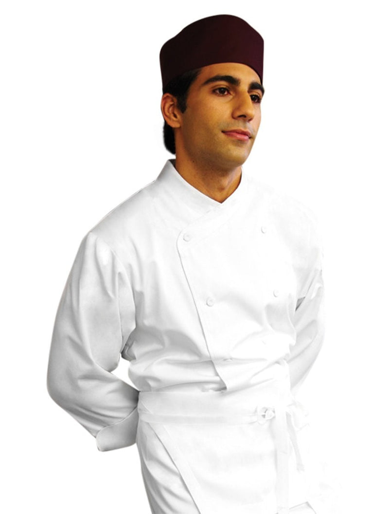 Chef Works St. Maarten Basic Chef Coat White Front Profile