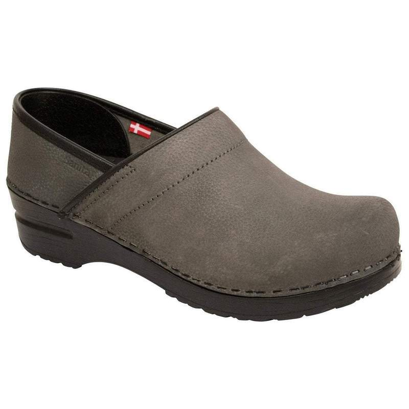 Sanita Men's Textured Oil Slip-Resistant Chef Clog - Grey