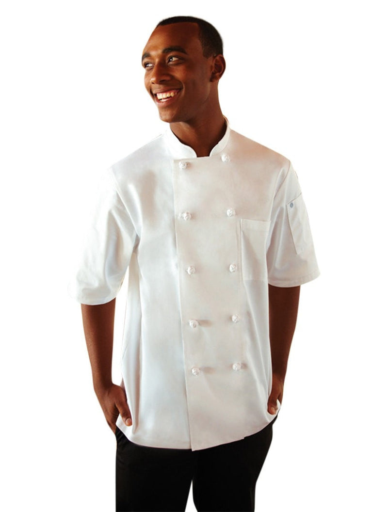 Chef Works Tivoli Basic Chef Coat White Front Profile